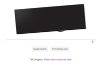 Google's Homepage in protest of SOPA on 1/18/2012